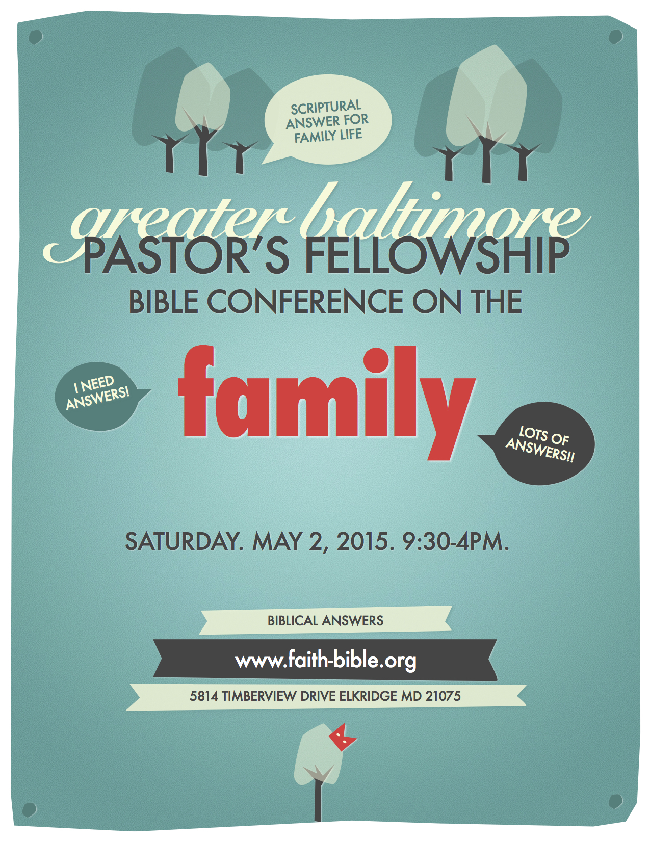 Family Conference Poster